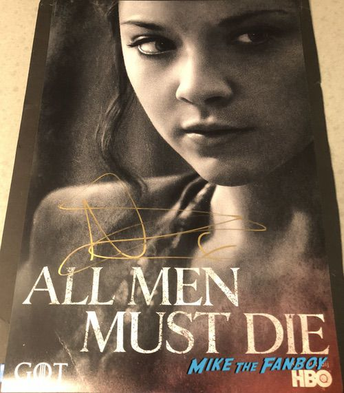 Natalie Dormer signed autograph game of thrones poster rare psa 0000