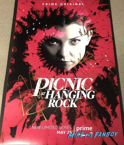 Natalie Dormer signed autograph picnic at hanging rock  poster rare psa 0002