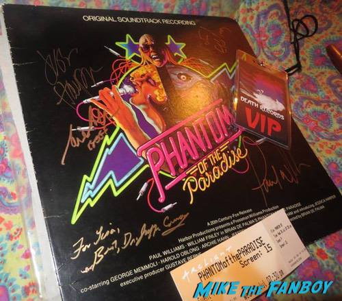 Phantom of the Paradise reunion meeting cast signed autograph 0001