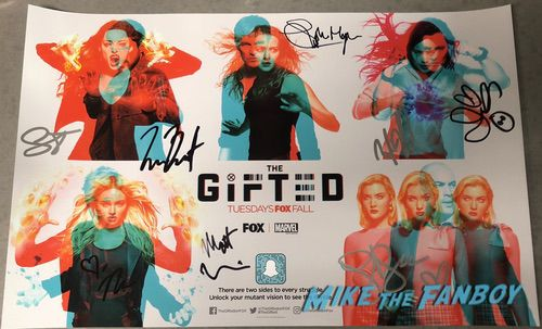 The Gifted SDCC Autograph signed poster stephen moyer