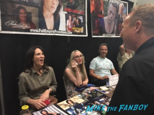Annabeth Gish with fans signing autographs rare 0001