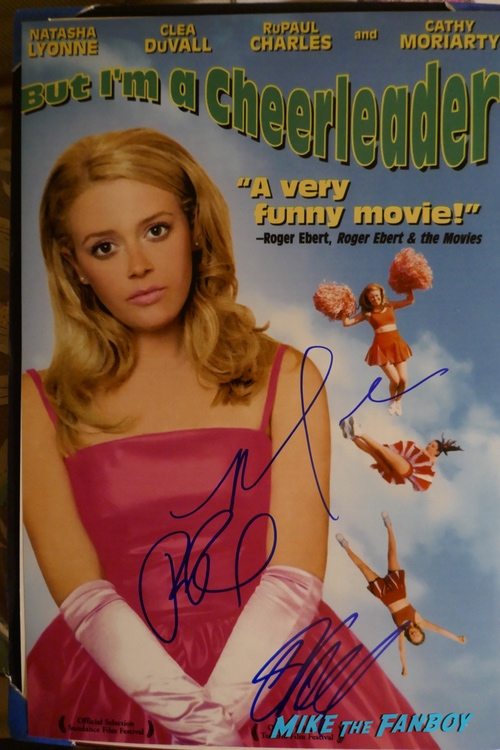 Rupaul but I'm a cheerleader signed autograph poster psa