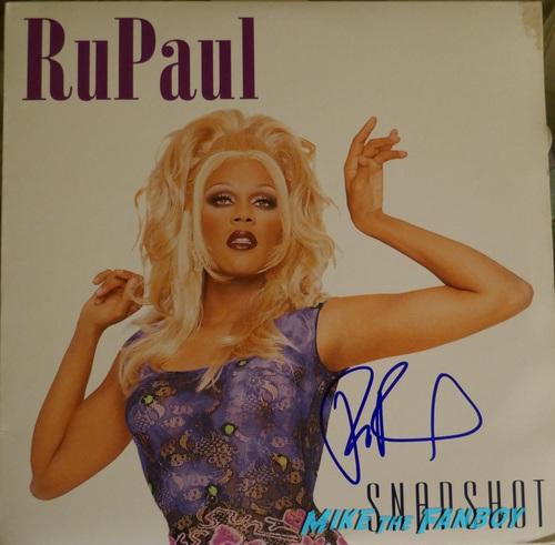 Rupaul signed autograph lp record psa
