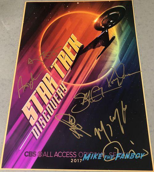 Star Trek Discovery signed autograph poster signature sonequa martin green