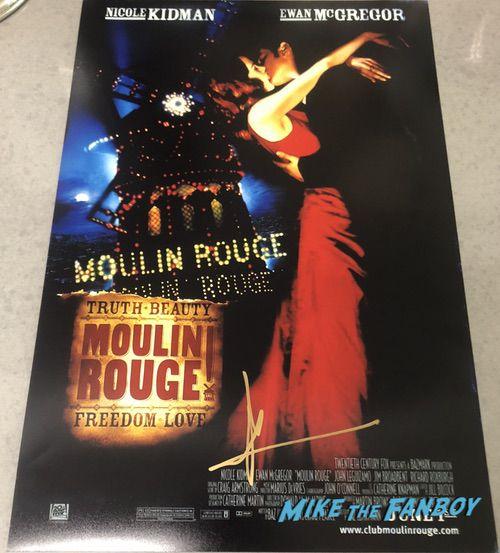 Nicole Kidman signed autograph moulin rouge poster