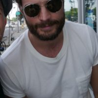 Jamie Dornan With Fans hot sexy photo beard muscle 0000