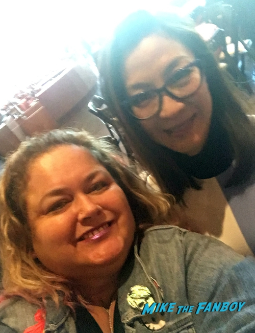 Michelle Yeoh with fans