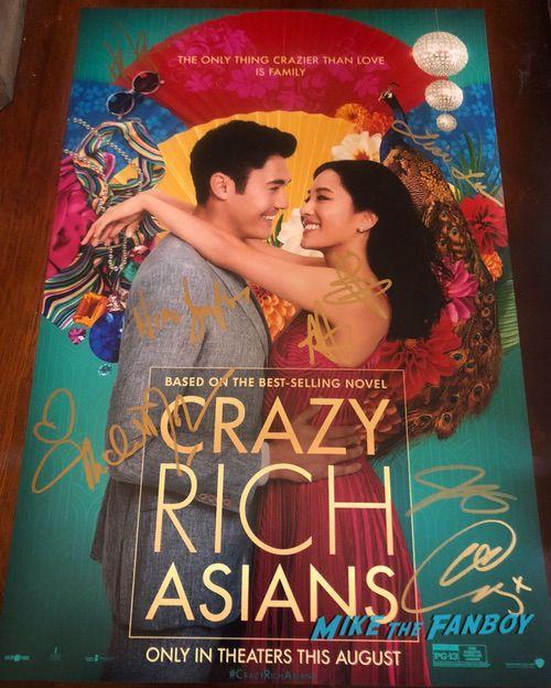 Crazy Rich Asians signed autograph poster constance wu