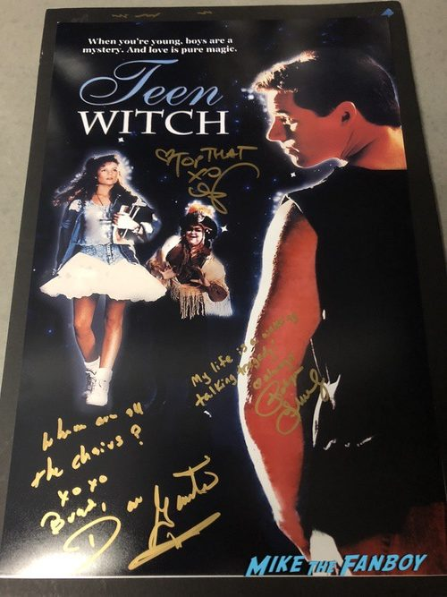 Teen Witch cast signed autograph poster robyn lively mandy ingbar Teen Witch cast signed autograph poster robyn lively mandy ingbar