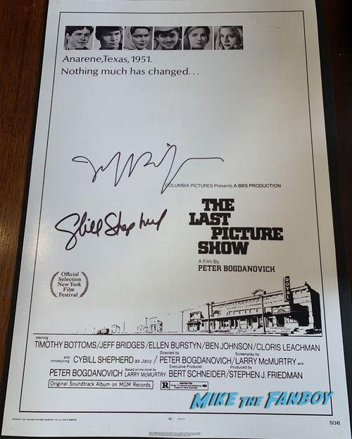 Cybill Shepherd signed autograph last picture show poster psa