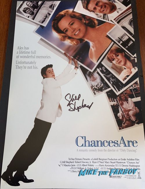 Cybill Shepherd signed autograph chances are poster psa