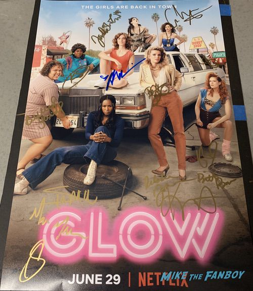 GLOW season 2 promo poster signed autograph Alison Brie Betty Gilpin Kate Nash