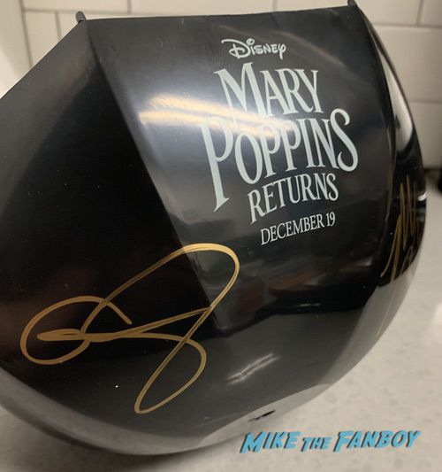 Mary Poppins returns popcorn bucket signed autograph emily blunt rob marshall