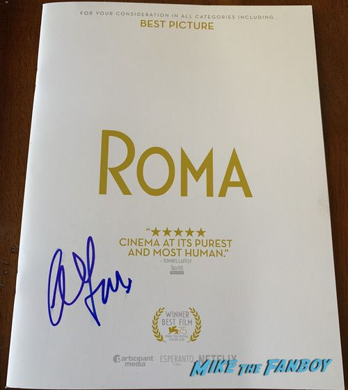 Alfonso Cuarón signed autograph Roma poster