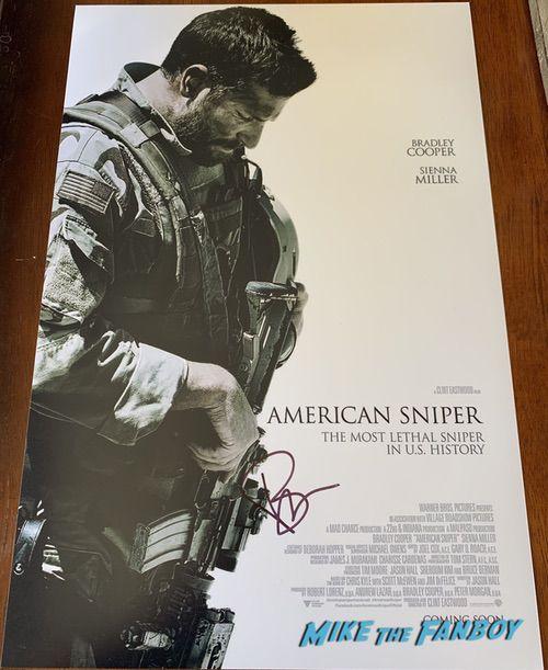 Bradley Cooper signed American Sniper Poster PSA