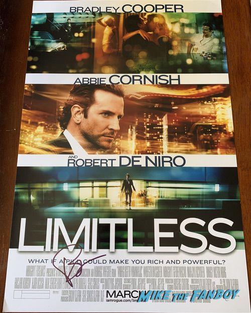 Bradley Cooper signed Limitless Poster PSA