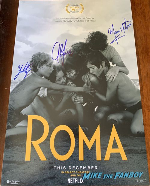 Alfonso Cuarón signed autograph Roma posterAlfonso Cuarón signed autograph Roma poster