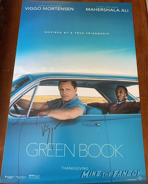 Viggo Mortensen and Mahershala Ali signed autograph green book poster psa