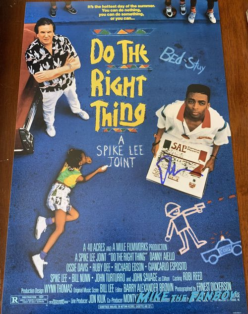 spike lee signed do the right thing poster psa