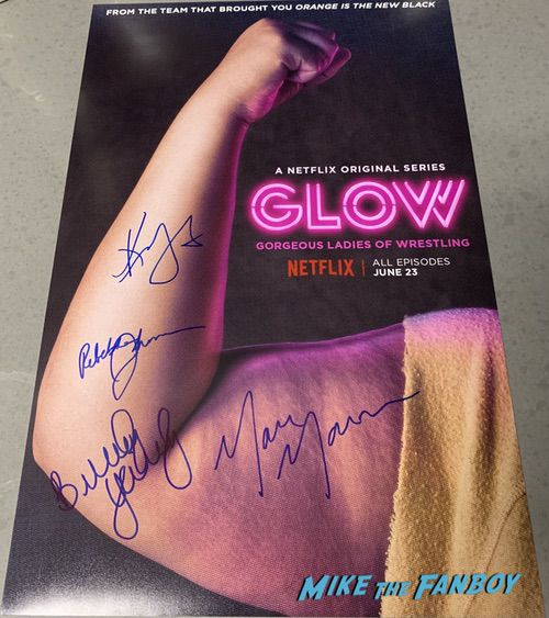 GLOW cast signed autograph poster
