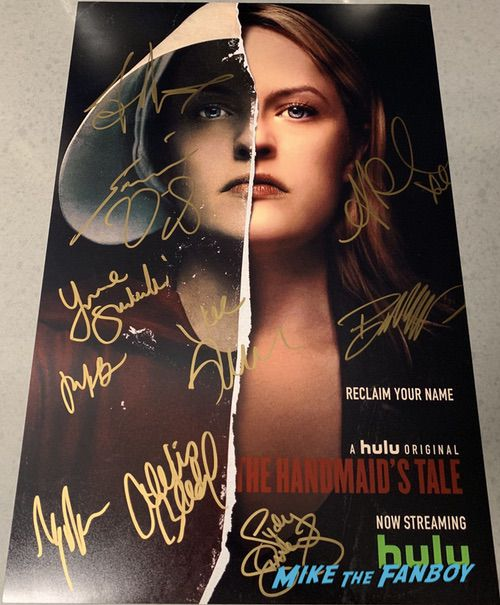 The Handmaid's Tale Season Two poster Cast Signed