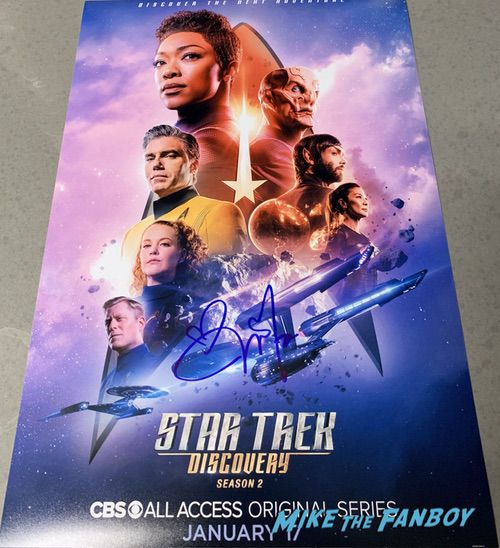 Michelle Yeoh signed autograph Star Trek Discovery poster