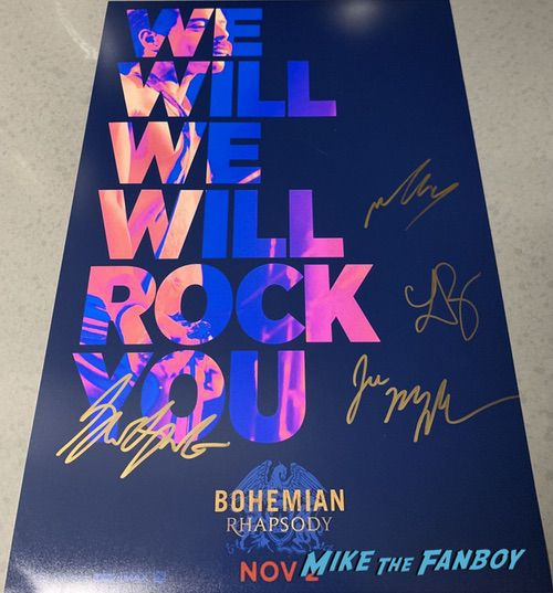 Ben Hardy signed autograph Bohemian Rhapsody poster psa