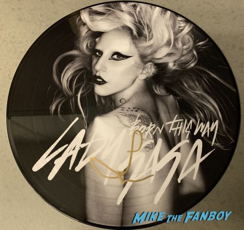 Lady Gaga Signed Autograph Born This Way Picture Disc