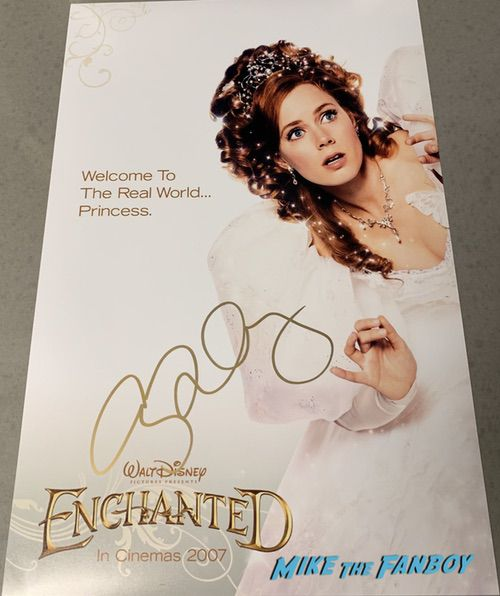Amy Adams signed autograph Enchanted Movie poster