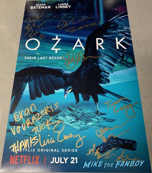 Ozark cast signed autograph movie poster