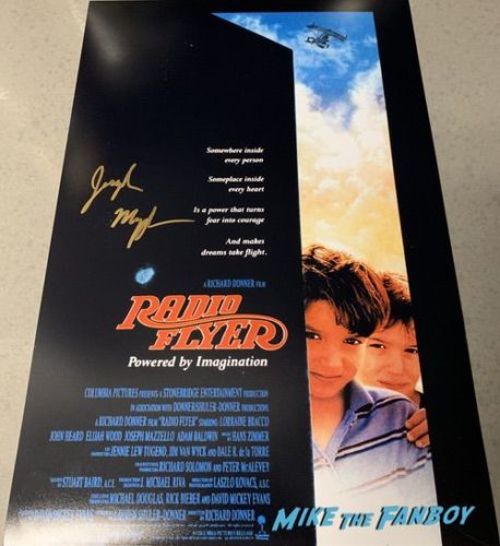 Joseph Mazzello signed autograph Radio Flyer movie poster