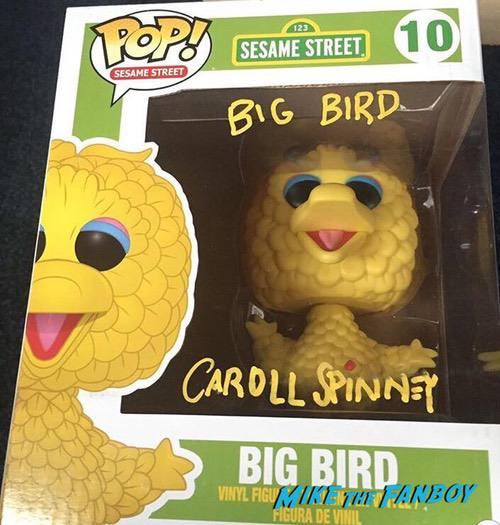 Carroll Spinney Signed Autograph Big Bird Funko Pop 0000