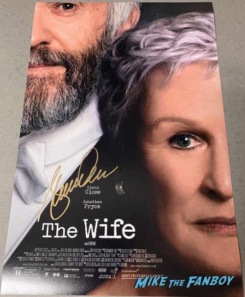 Glenn Close signed autograph The Wife poster psa signature