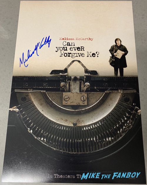 Melissa McCarthy Signed Autograph Can You Ever Forgive Me? Poster PSA