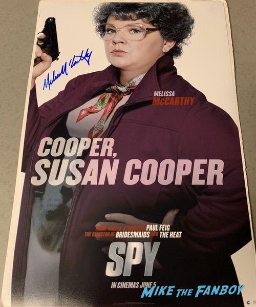 Melissa McCarthy Signed Autograph Spy Poster PSA