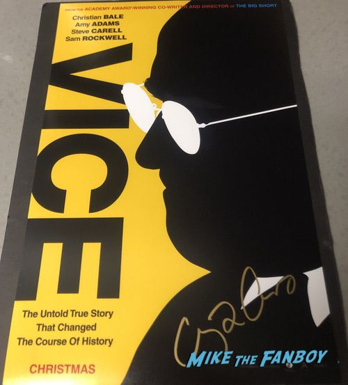 amy adams signed autograph vice poster