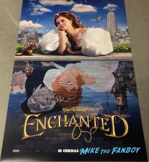 amy adams signed autograph enchanted poster