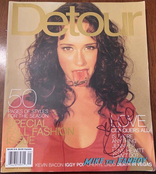 Jennifer Love Hewitt signed autograph Detour magazine