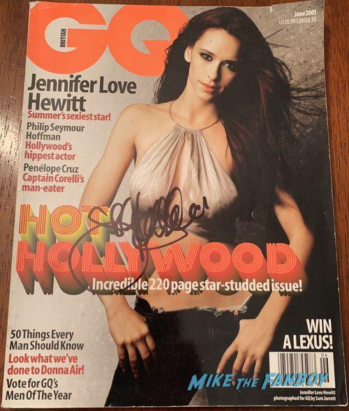 Jennifer Love Hewitt signed autograph GQ magazine