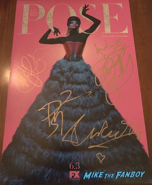 Pose cast signed autograph poster mj rodriguez