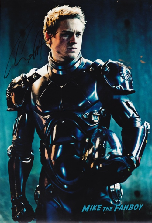 Charlie Hunnam signed autograph poster