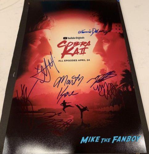 Cobra Kai season two signed autograph poster ralph macchio william zabka