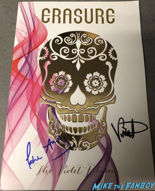 erasure signed tour book andy bell vince clarke violet flame