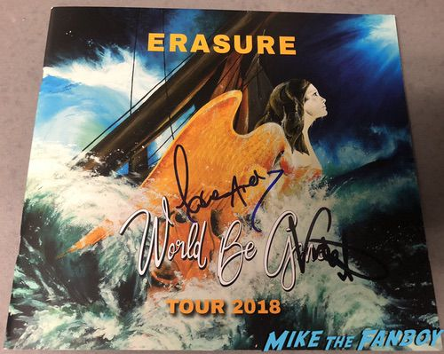 erasure signed tour book andy bell vince clarke world be gone