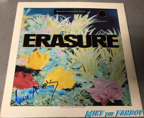 erasure signed tour book andy bell vince clarke drama lp