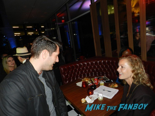 Connie Nielsen with fans I Am The Night FYC Panel Chris Pine With Fans 0008