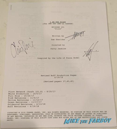 I Am The Night signed autograph script rare chris pine