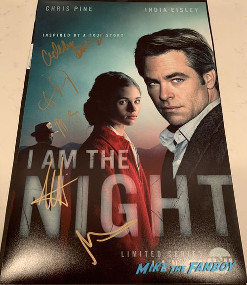 I Am The Night signed autograph rare