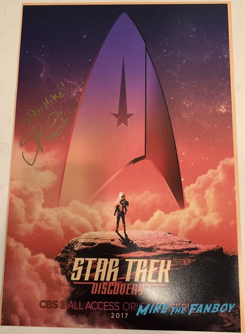 Star Trek Discovery season two signed poster sonequa martin green autograph signature