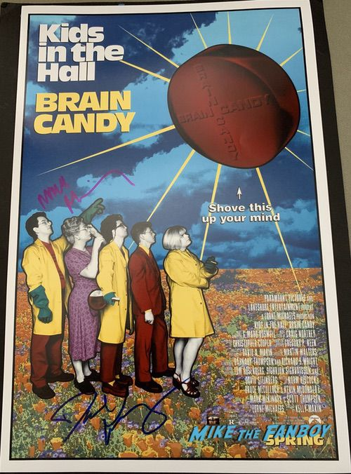 Mark McKinney signed kids in the hall poster